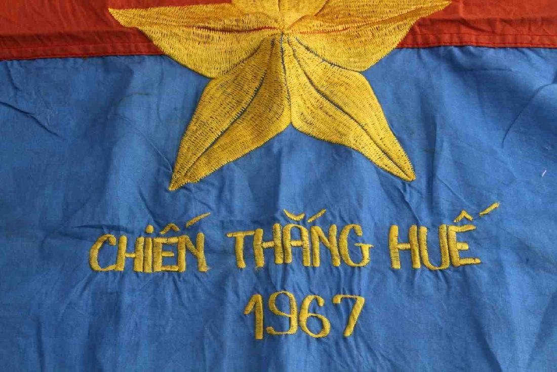 VIETNAM WAR ERA VIET CONG VC COMBAT BATTLE FLAG - 2