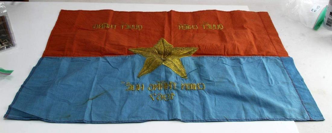 VIETNAM WAR ERA VIET CONG VC COMBAT BATTLE FLAG - 3