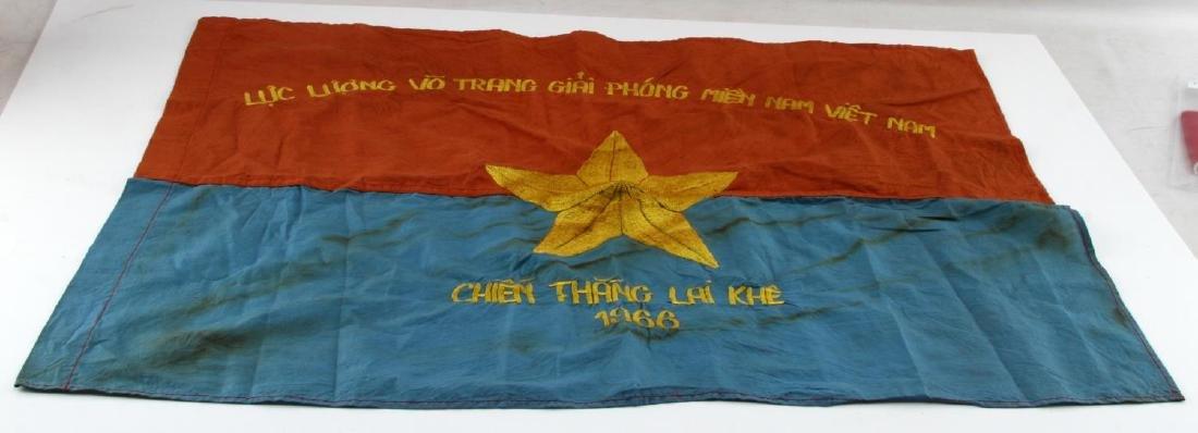 VIETNAM ERA VIET CONG VG COMBAT BATTLE FLAG
