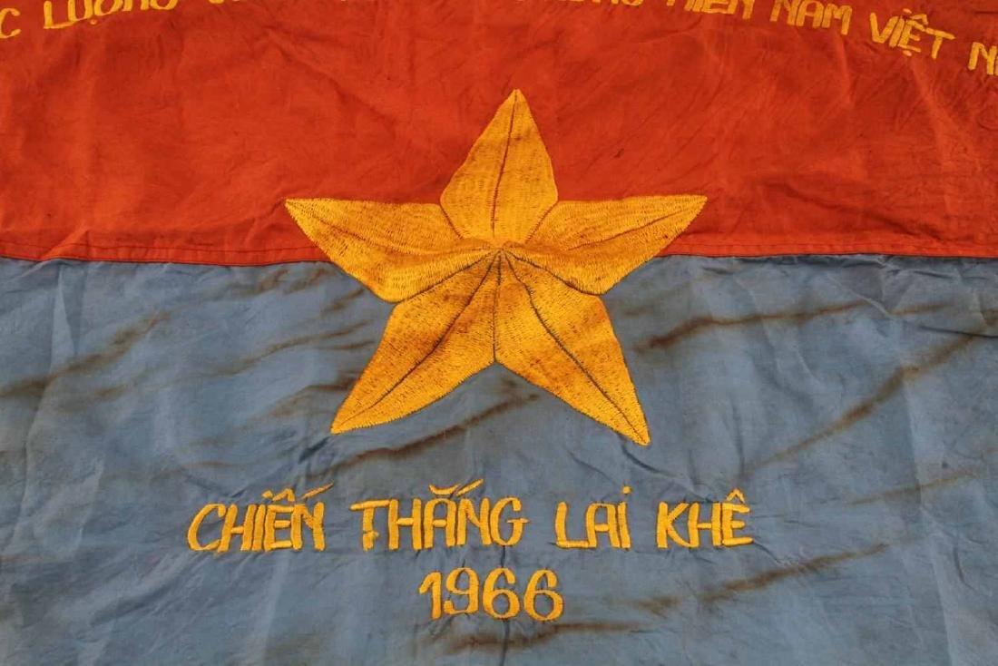 VIETNAM ERA VIET CONG VG COMBAT BATTLE FLAG - 2