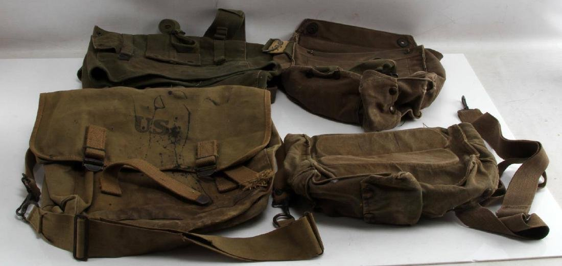 US WWII KOREAN WAR ERA COMBAT BACK PACK LOT OF 4
