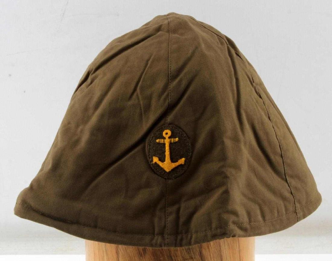 JAPANESE WWII NAVY COMBAT CLOTH HELMET COVER - 2