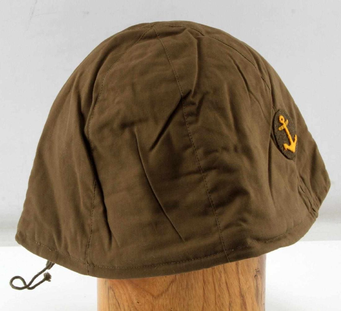 JAPANESE WWII NAVY COMBAT CLOTH HELMET COVER - 3