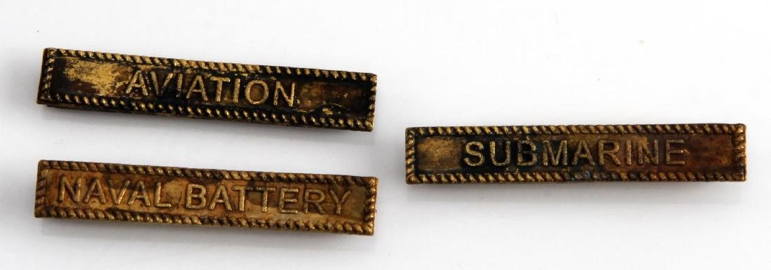 WWI US WINGED VICTORY BATTLE BAR LOT OF THREE