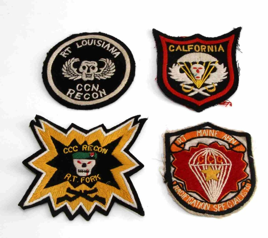 4 US VIETNAM ERA ARMY 5TH SPECIAL FORCES PATCHES
