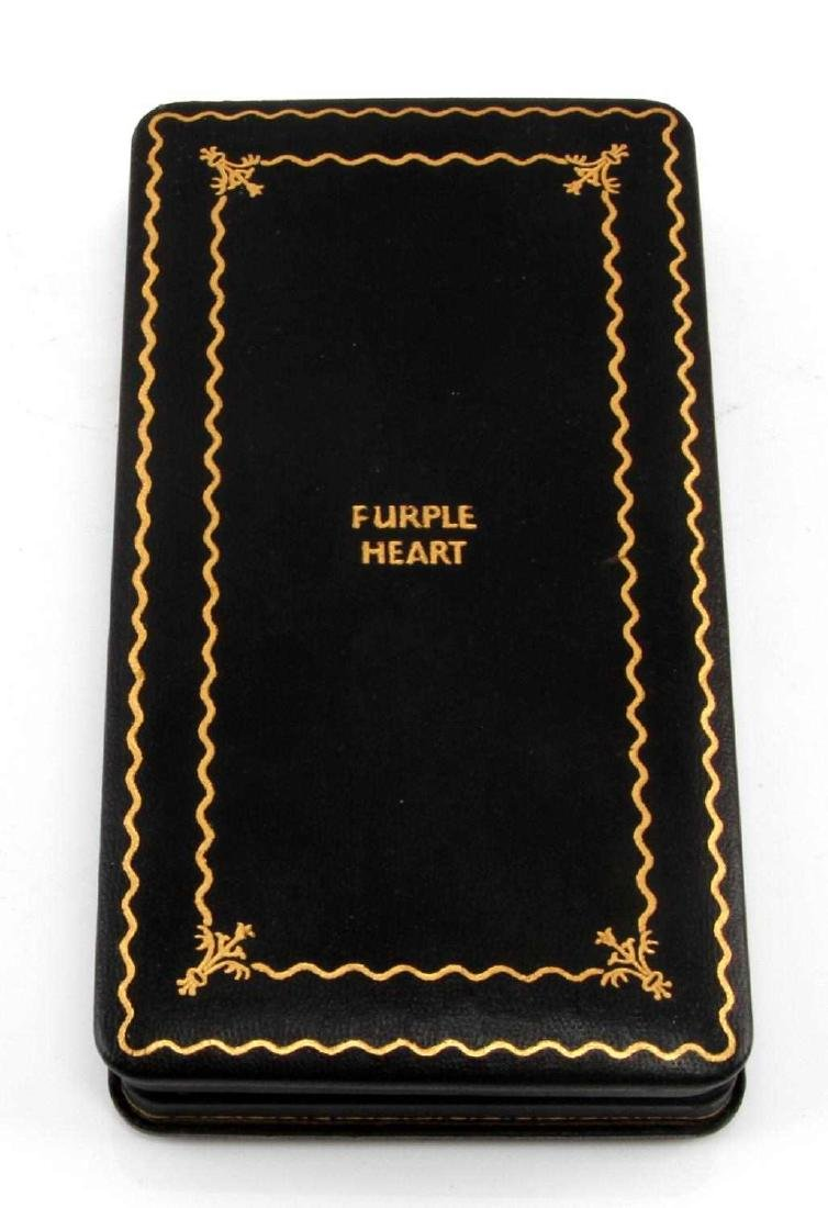 US MILITARY  NAMED PURPLE HEART WITH COFFIN CASE - 4