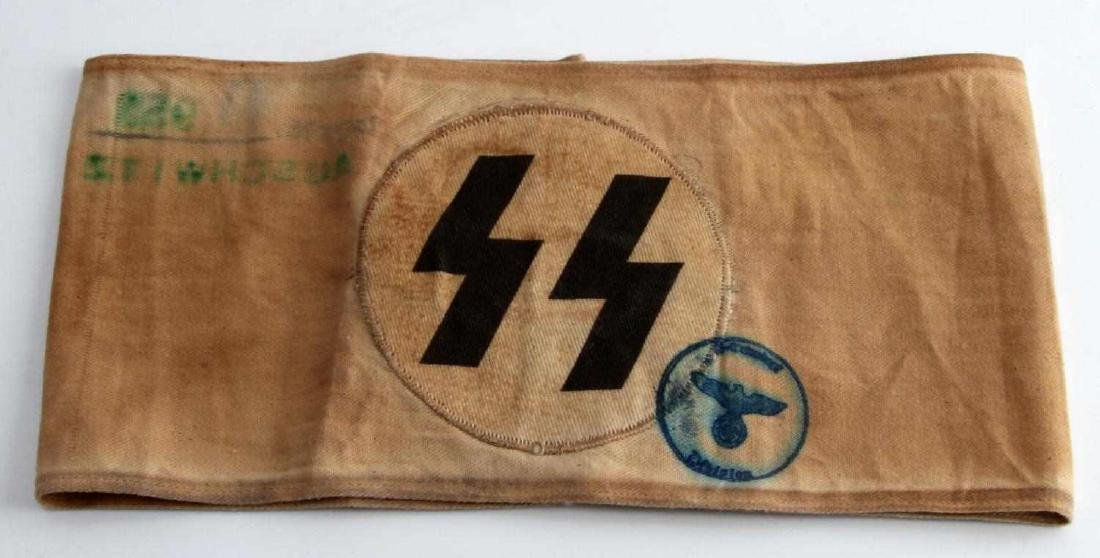 WWII GERMAN THIRD REICH WAFFEN SS RUNE ARM BAND