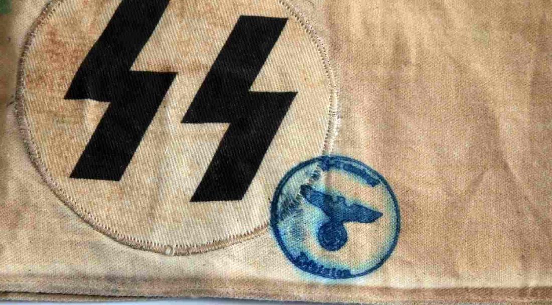WWII GERMAN THIRD REICH WAFFEN SS RUNE ARM BAND - 2