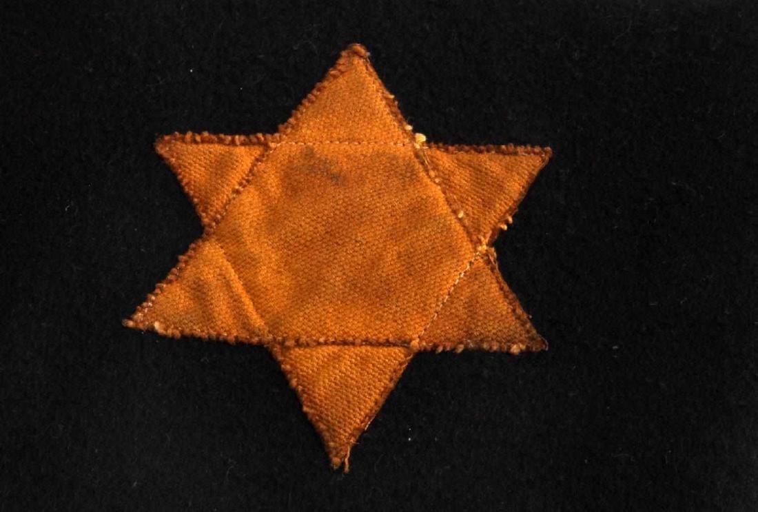 WWII GERMAN 3RD REICH STAR OF DAVID BLACK ARMBAND - 2