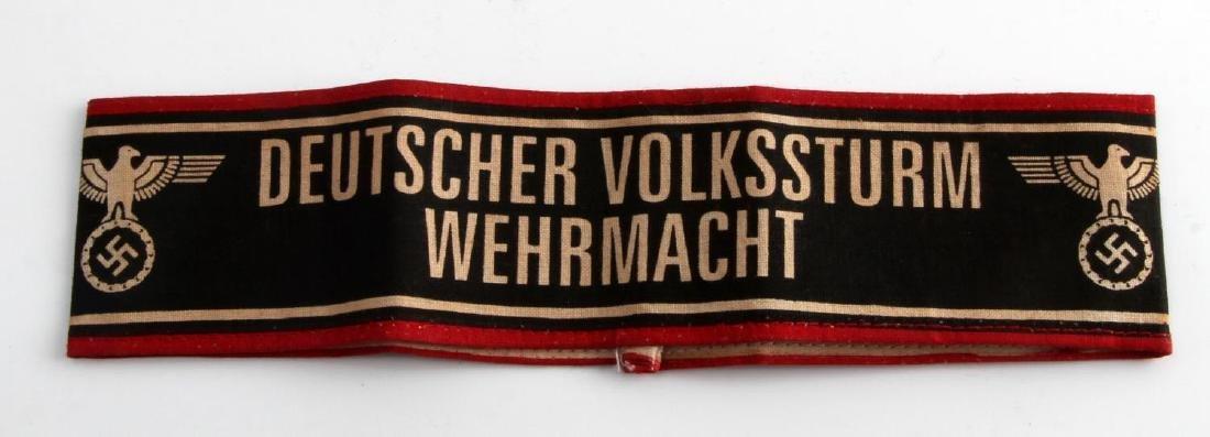 WWII GERMAN THIRD REICH VOLKSSTURM ARMBAND