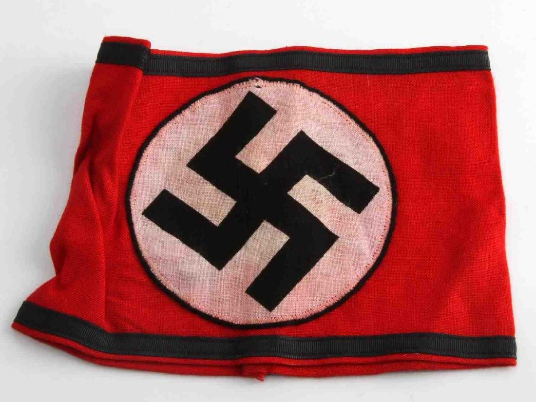 WWII GERMAN THIRD REICH WAFFEN SS SWASTIKA ARMBAND