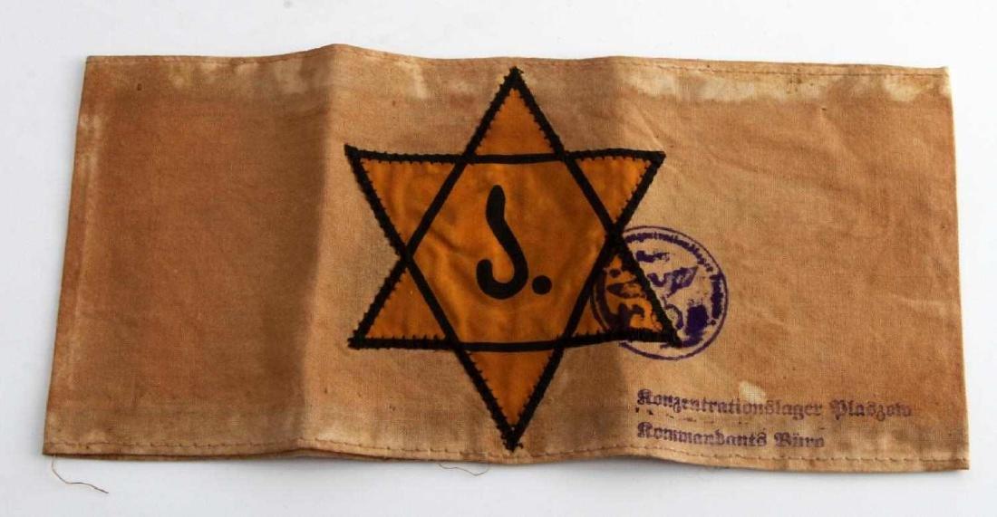 WWII GERMAN 3RD REICH JEWISH STAR OF DAVID ARMBAND