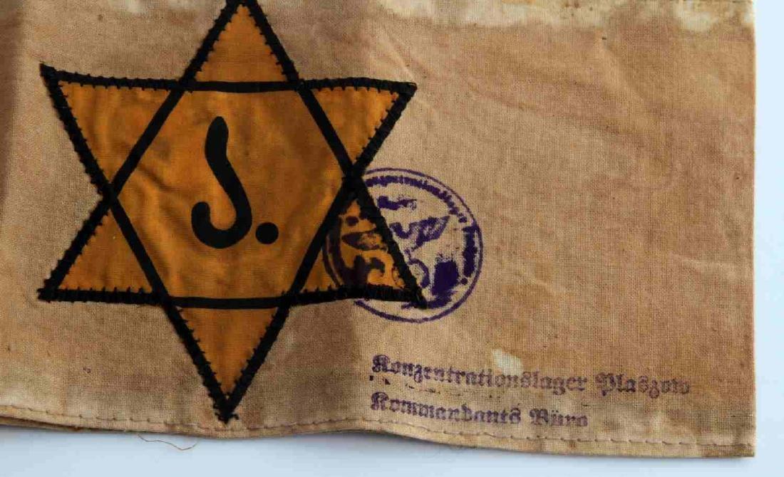 WWII GERMAN 3RD REICH JEWISH STAR OF DAVID ARMBAND - 2