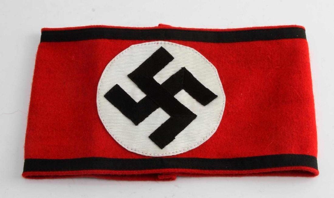 GERMAN WWII WAFFEN SS SHULTZ STAFFEL ARM BAND
