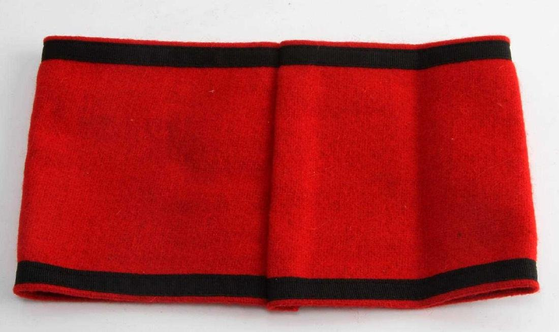 GERMAN WWII WAFFEN SS SHULTZ STAFFEL ARM BAND - 3