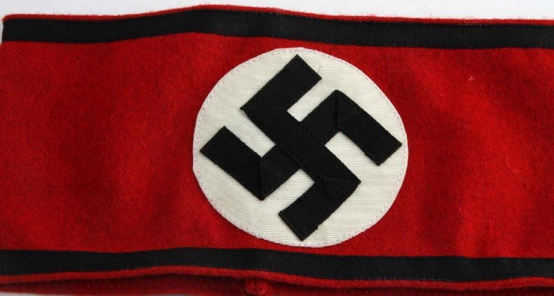 WWII GERMAN 3RD REICH WAFFEN SS BLACK EDGE ARMBAND - 2