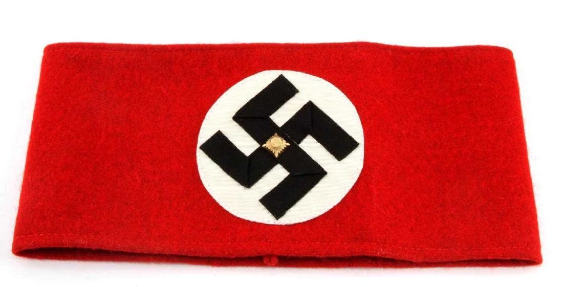 WWII GERMAN THIRD REICH NSDAP SA LEADER ARMBAND