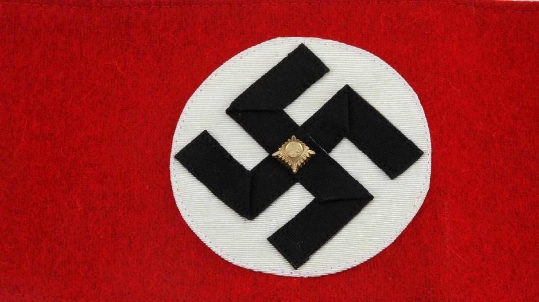 WWII GERMAN THIRD REICH NSDAP SA LEADER ARMBAND - 2