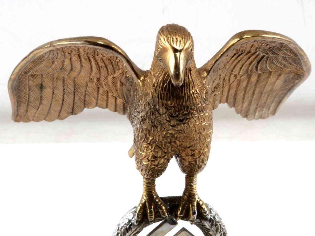 GERMAN WWII NSDAP DEUTSCHLAND FLAG POLE TOP EAGLE - 2