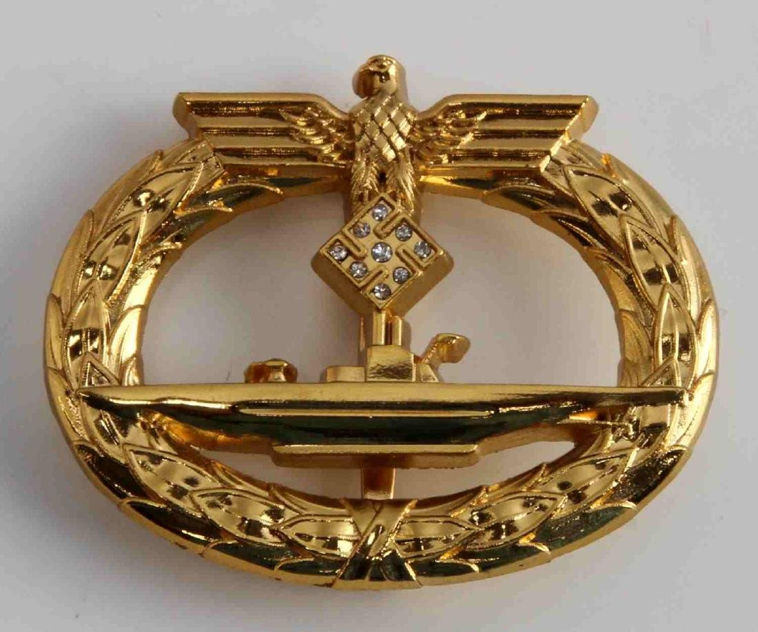 WWII GERMAN THIRD REICH HOMAGE DIAMOND UBOAT BADGE