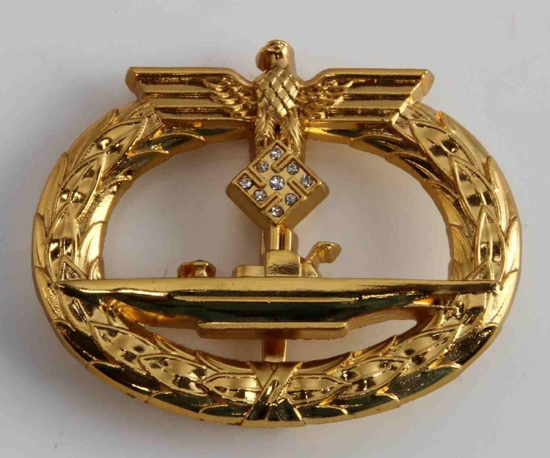 WWII GERMAN THIRD REICH HOMAGE DIAMOND UBOAT BADGE