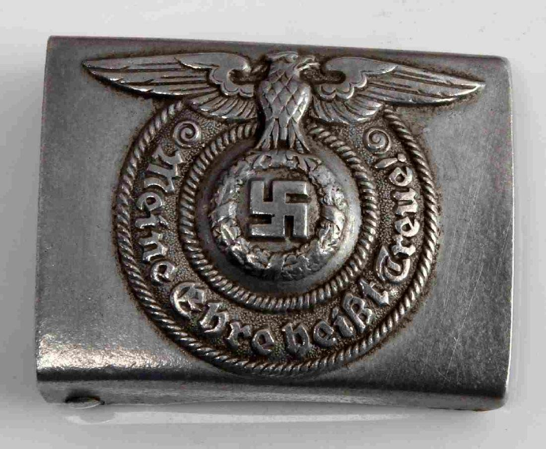 WWII GERMAN THIRD REICH WAFFEN SS EM BELT BUCKLE