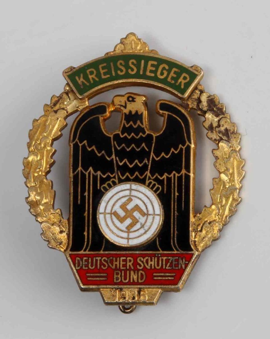 GERMAN 1936 KREISSIEGER MARKSMAN SHOOTING BADGE