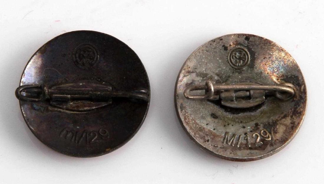 2 GERMAN WWII LAPEL BADGE LOT NSDAP & ERWACHE 1933 - 2