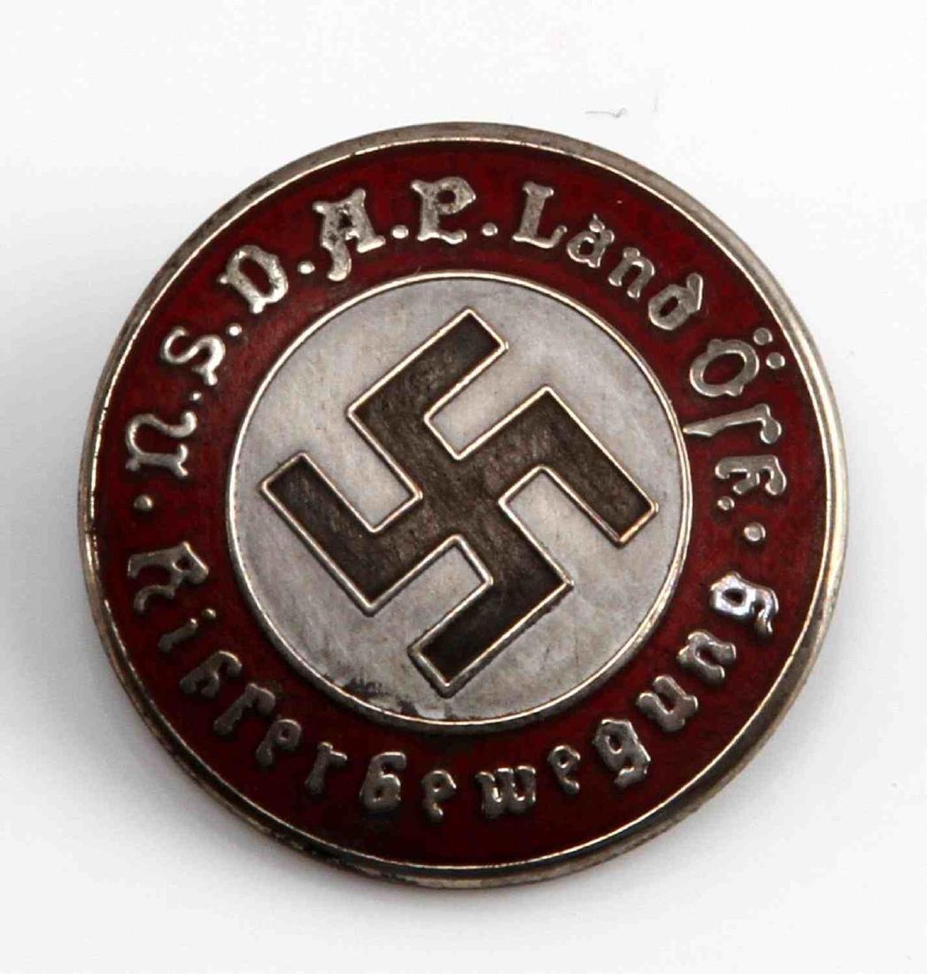 GERMAN WWII AUSTRIAN NSDAP PARTY BADGE
