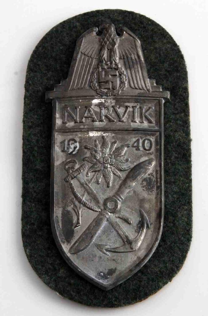 GERMAN WWII ARMY 1940 NARVIK SLEEVE SHIELD