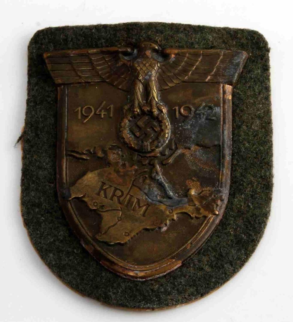 GERMAN WWII ARMY 1941 1942 KRIM SLEEVE SHIELD