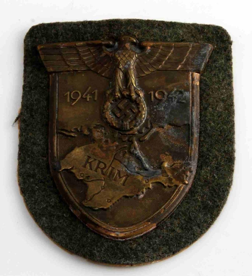 GERMAN WWII ARMY 1941 1942 KRIM SLEEVE SHIELD