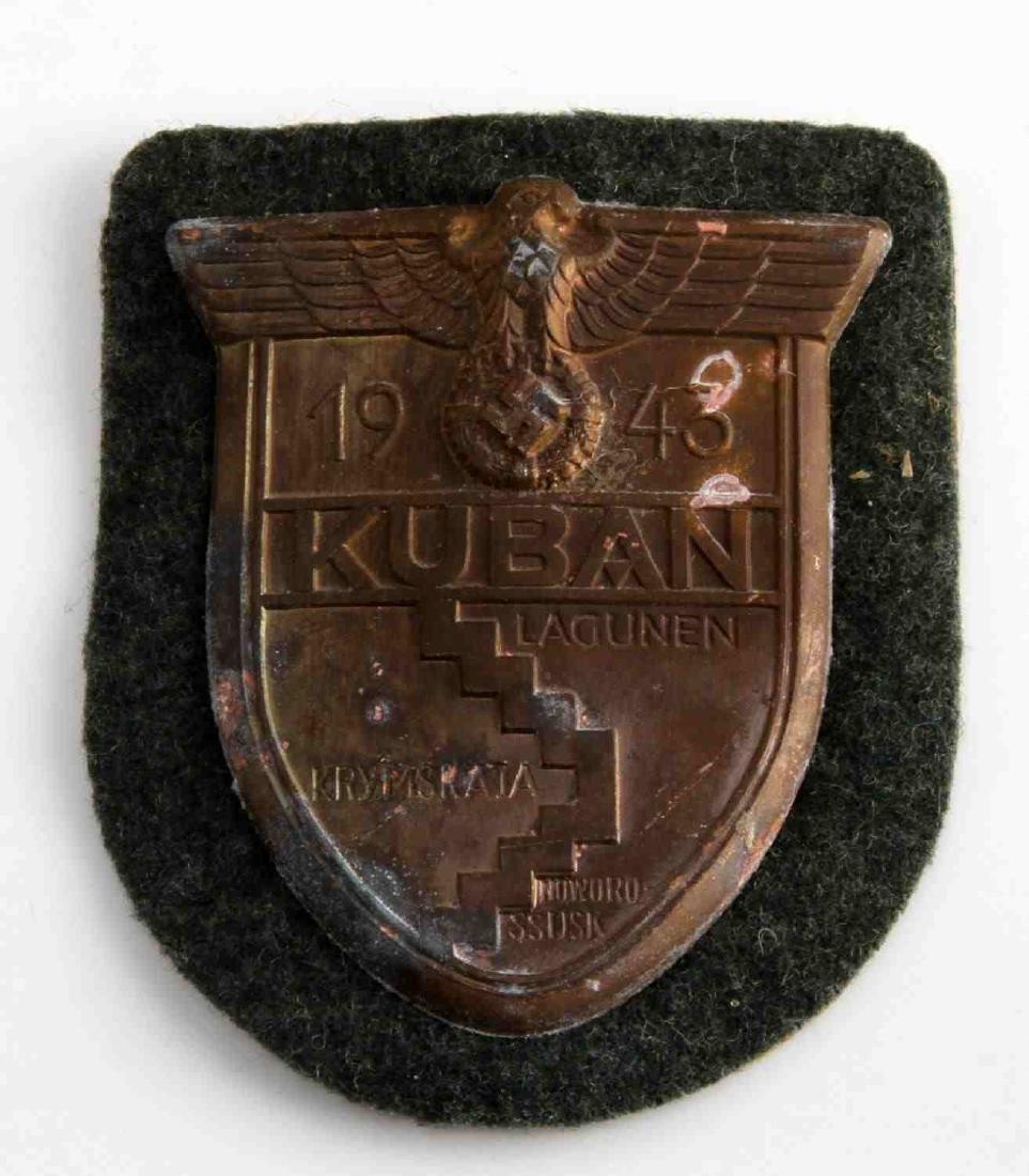 GERMAN WWII ARMY 1943 KUBAN SLEEVE SHIELD