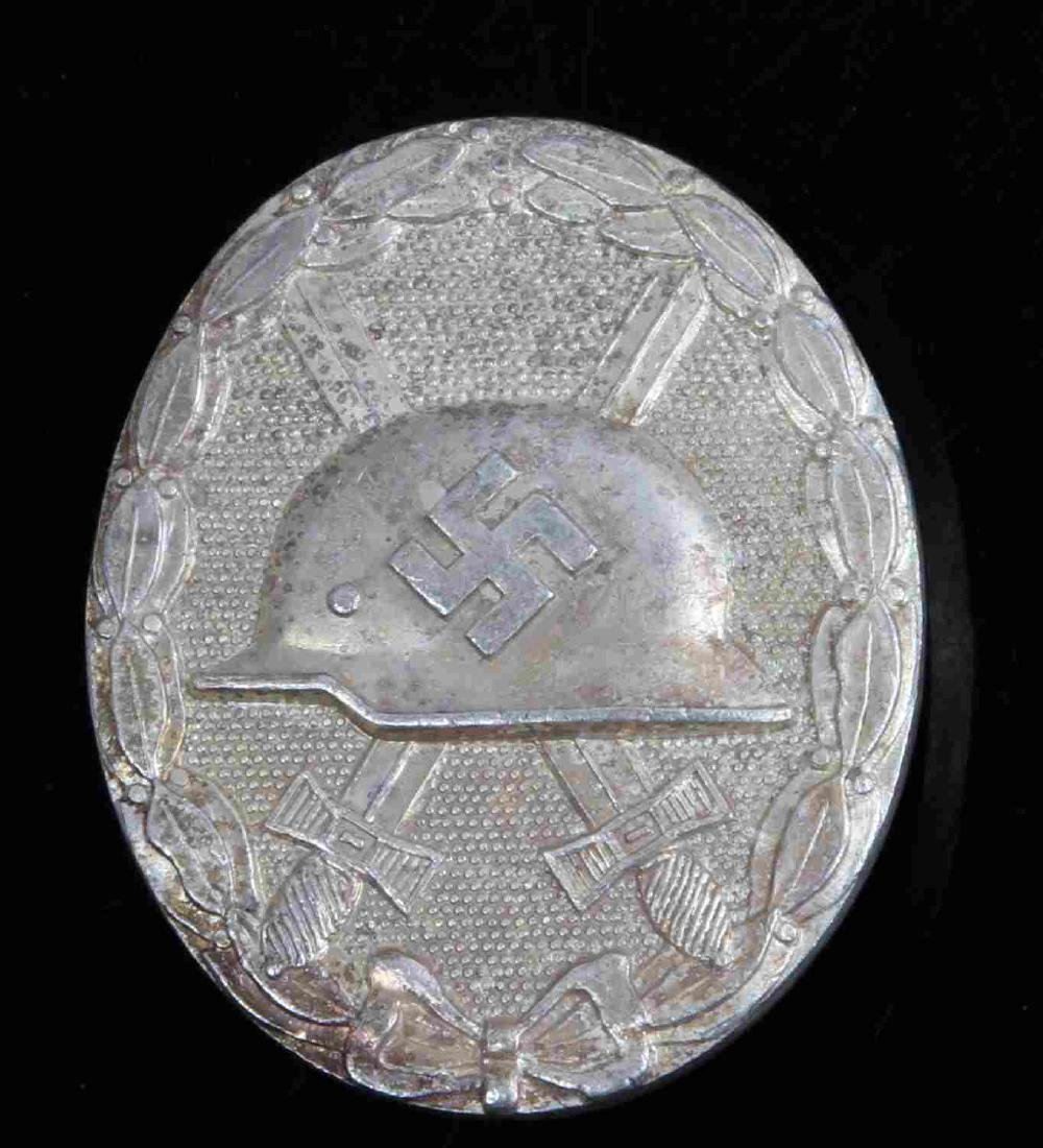 GERMAN WWII THIRD REICH SILVER WOUND BADGE