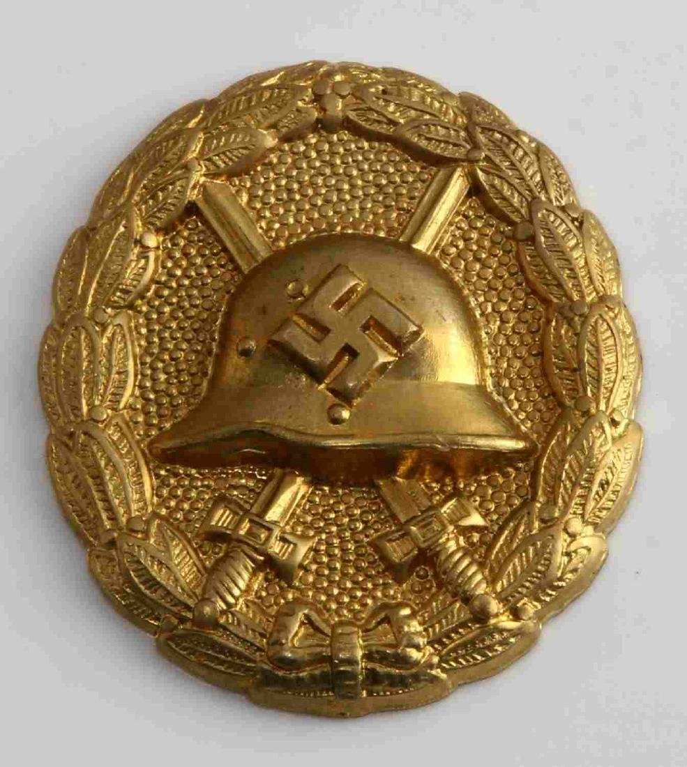 GERMAN WWII SPANISH CONDOR LEGION GOLD WOUND BADGE