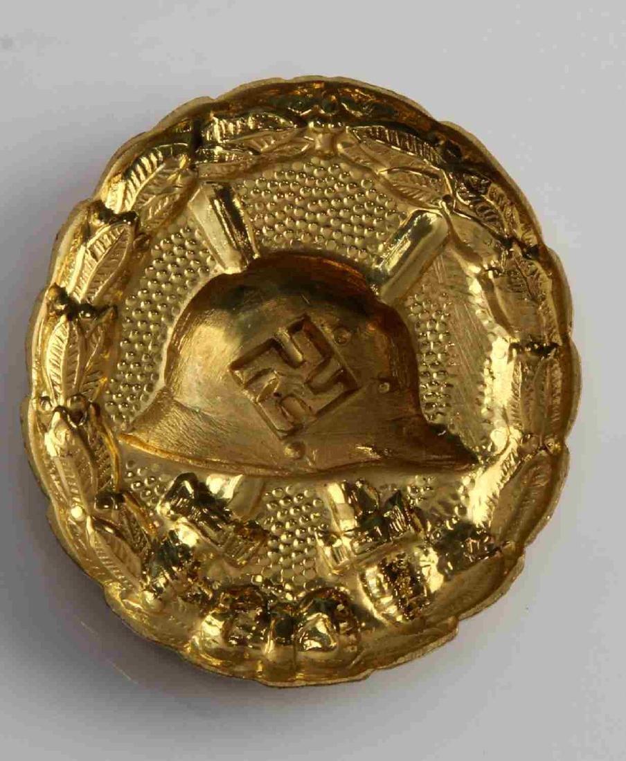 GERMAN WWII SPANISH CONDOR LEGION GOLD WOUND BADGE - 2
