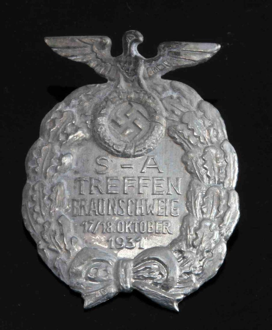 GERMAN WWII 1931 SA TREFFEN RALLY BADGE 3RD REICH