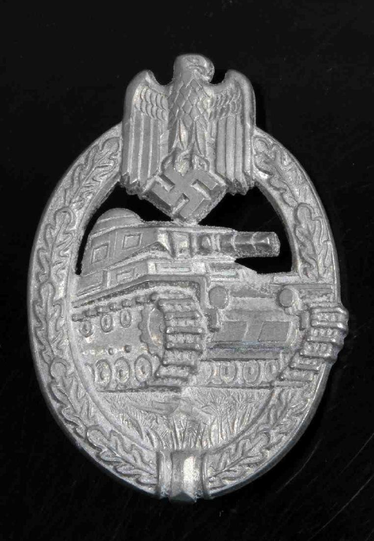 GERMAN WWII ARMY SILVER TANK ASSAULT BADGE