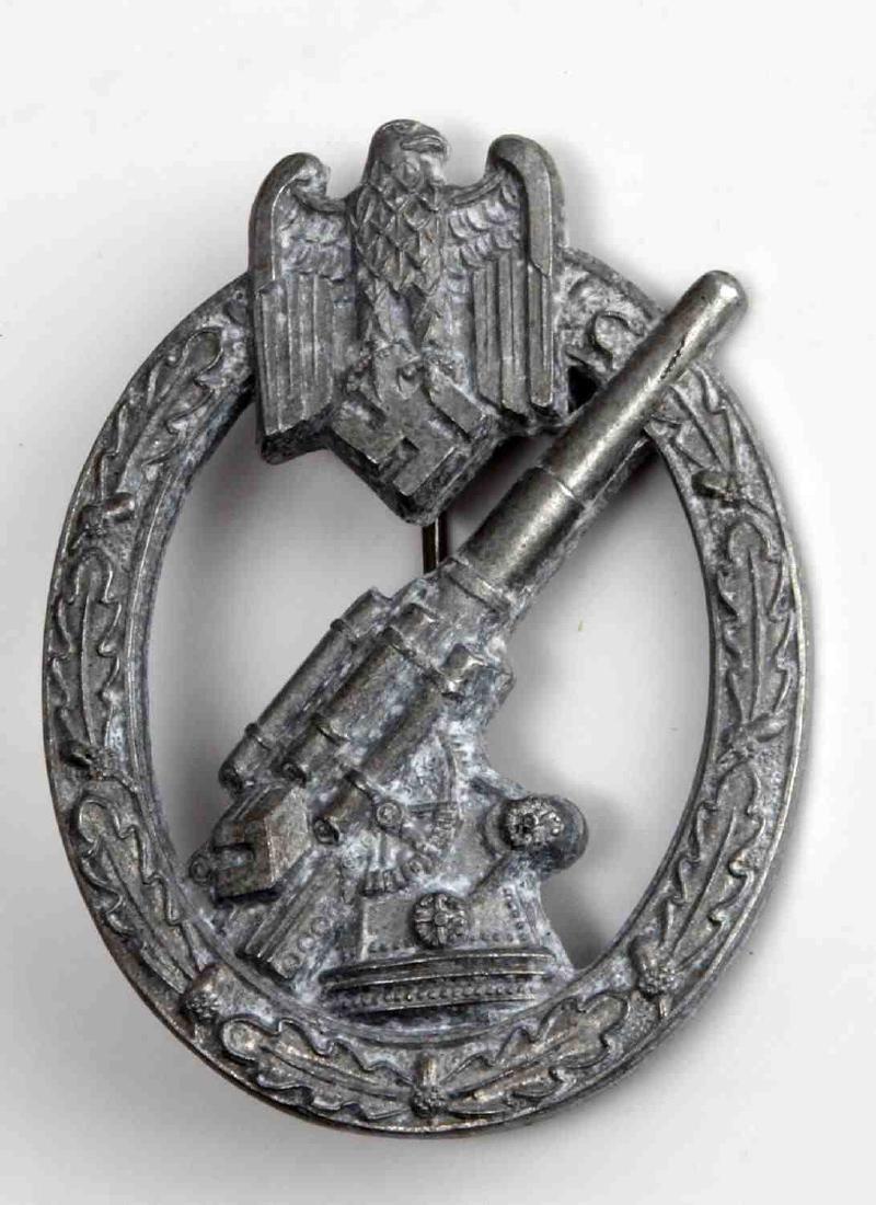 GERMAN WWII THIRD REICH ARMY FLAK ARTILLERY BADGE