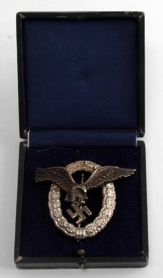 GERMAN WWII LUFTWAFFE PILOT BADGE THIRD REICH CASE