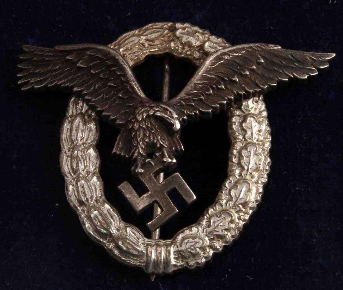 GERMAN WWII LUFTWAFFE PILOT BADGE THIRD REICH CASE - 2