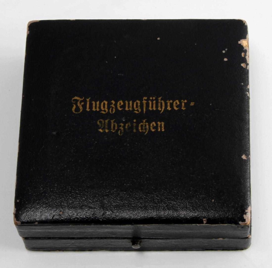 GERMAN WWII LUFTWAFFE PILOT BADGE THIRD REICH CASE - 5