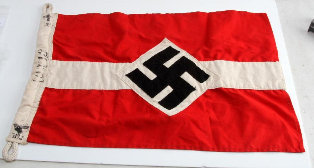 GERMAN WWII HITLER YOUTH HJ BANNER FLAG THIRD REIC