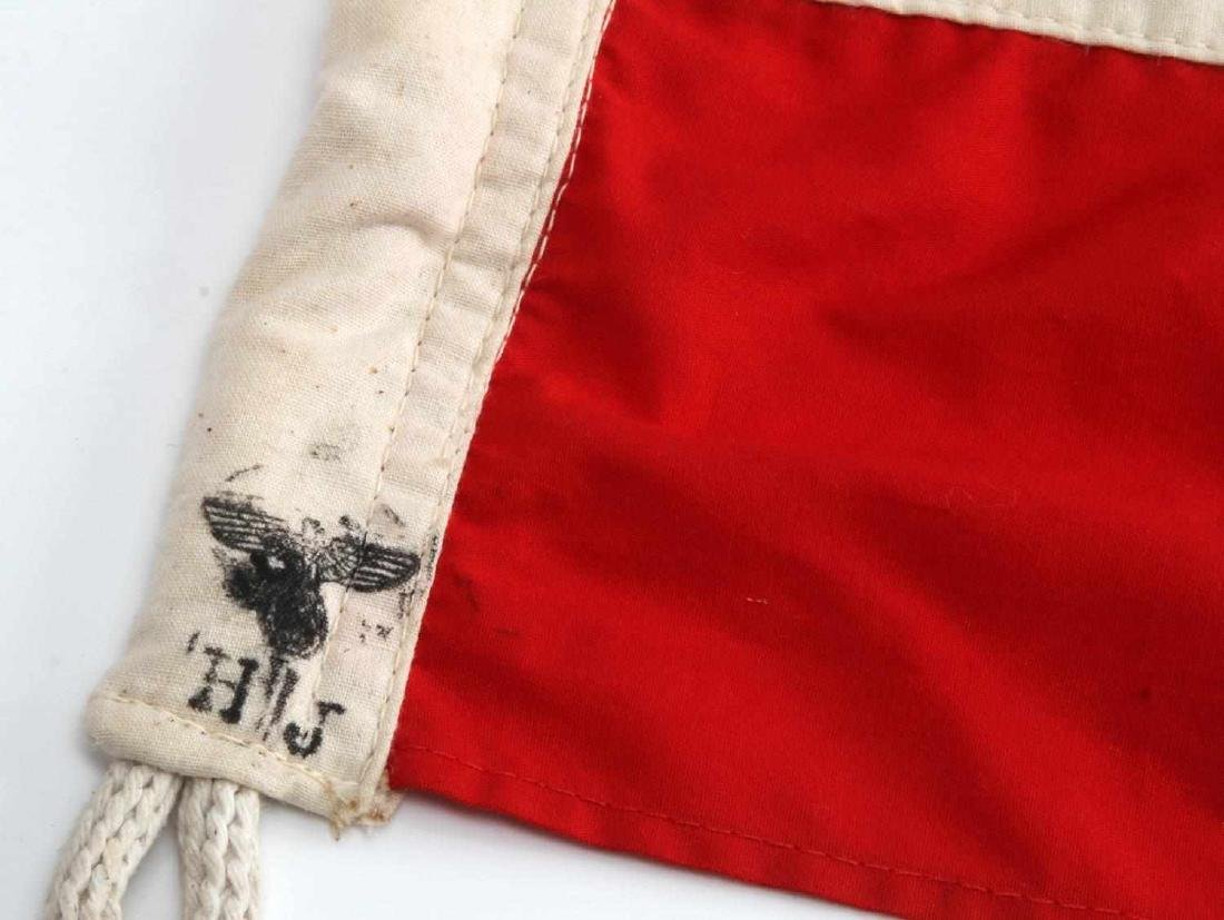GERMAN WWII HITLER YOUTH HJ BANNER FLAG THIRD REIC - 2