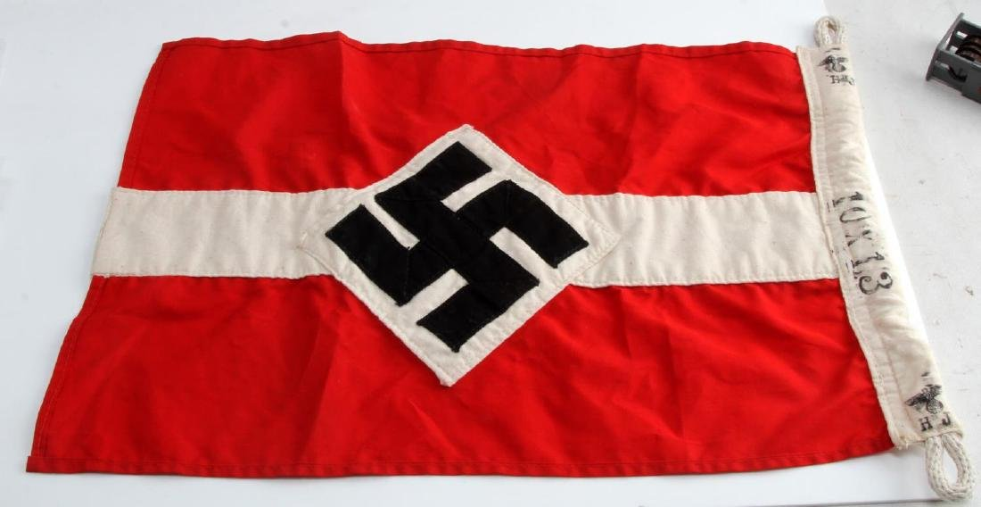 GERMAN WWII HITLER YOUTH HJ BANNER FLAG THIRD REIC - 4