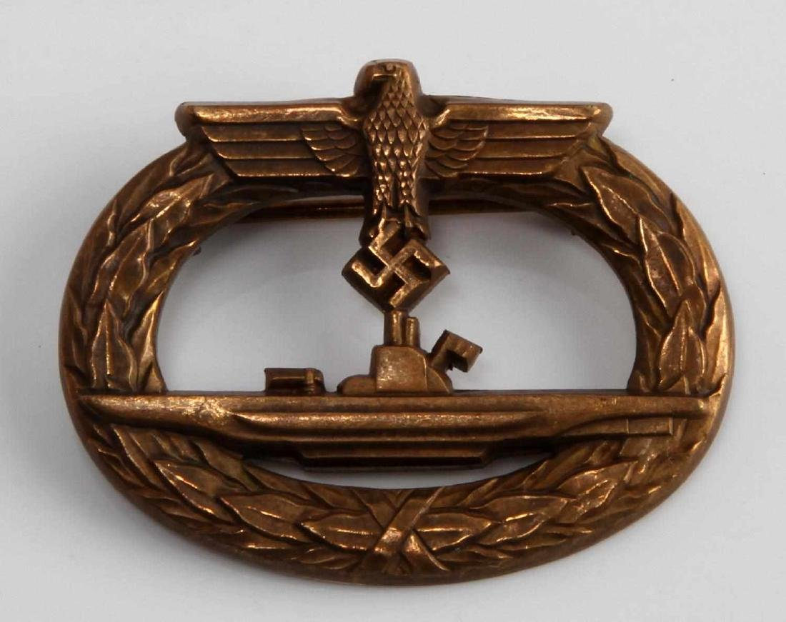 WWII GERMAN THIRD REICH KRIEGSMARINE UBOAT BADGE