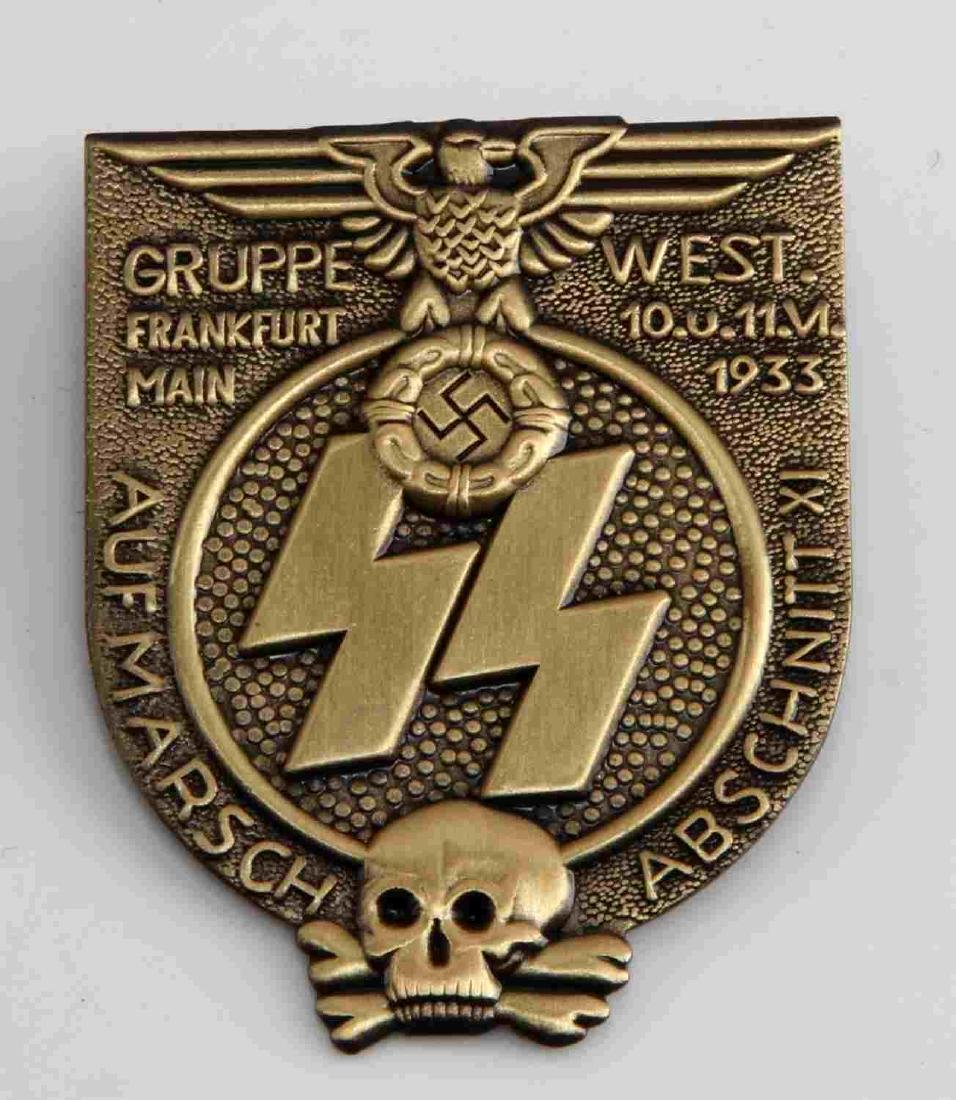 WWII GERMAN 3RD REICH SS FRANKFURT GRUPPE W BADGE