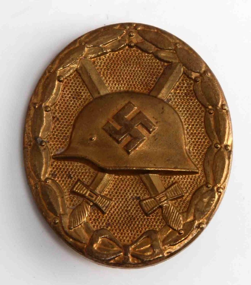 WWII GERMAN THIRD REICH GOLD WOUND BADGE