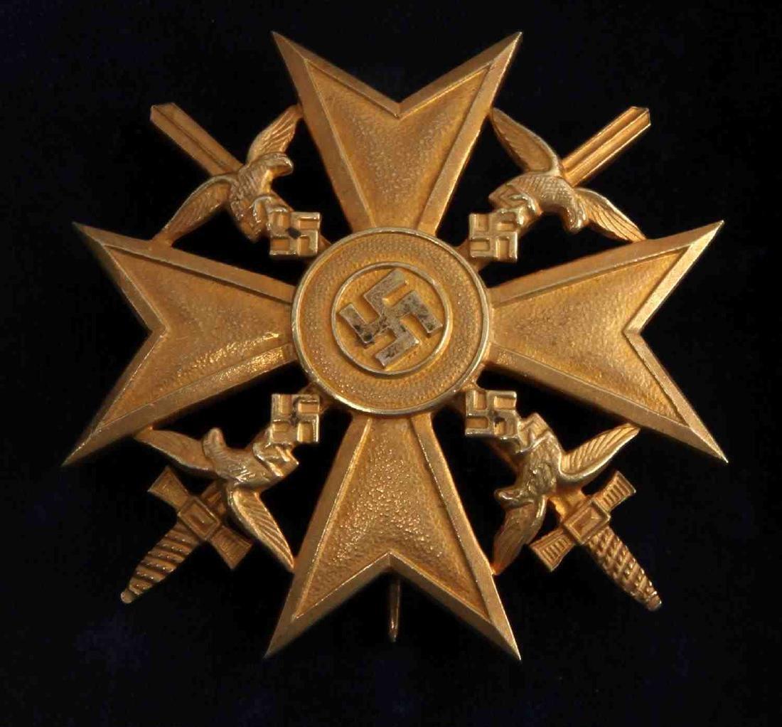WWII GERMAN THIRD REICH GOLD SPANISH CROSS IN CASE - 2