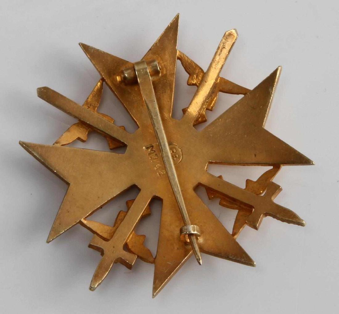 WWII GERMAN THIRD REICH GOLD SPANISH CROSS IN CASE - 3